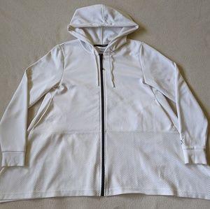 Puma EVO Full Zip Drapery Hoodie White Women's S